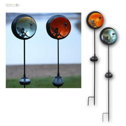 "Design DEL solarstab /""Conte de Fée/"" Métal Lampe Solaire gartenstab Éclairage de jardin"