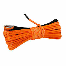 16x50 8000lbs Winch Synthetic Rope Line Recovery Cable Atv