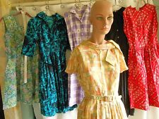 LOT OF 6 VINTAGE 1950'S DRESSES SOME NWOT  SHIRTWAIST ETC.