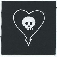 Alkaline Trio Heart Skull Logo Cloth Patch Free Shipping Sew-on 4 X 4