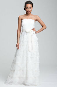 Image Is Loading NEW TADASHI SHOJI STRAPLESS LACE BRIDAL DRESS GOWN