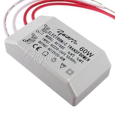 Transformateur électronique Lumière 60W 220V à 12V Pr LED lampe Ampoule Halogène