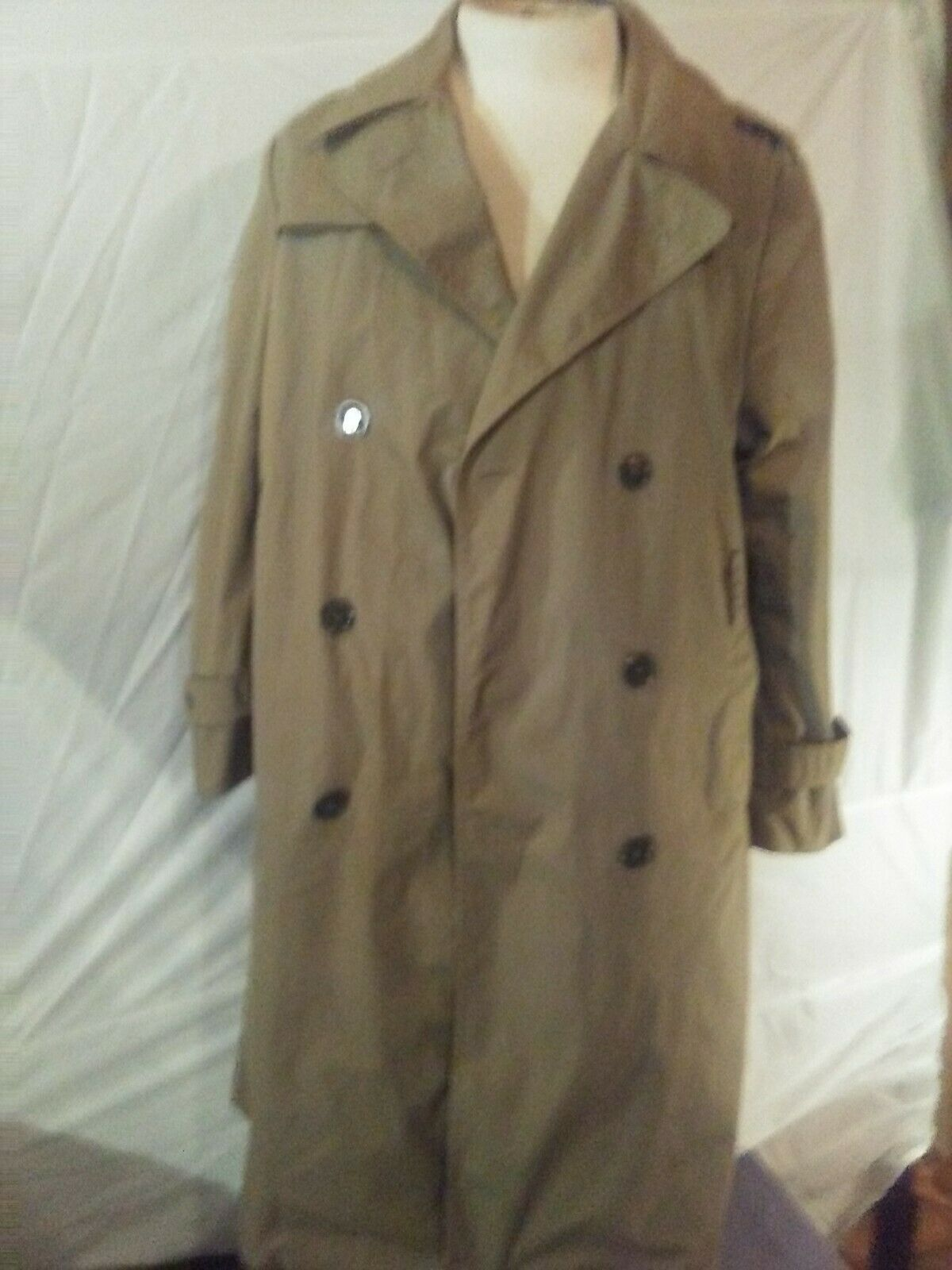 Vtg USMC Mens 40 R Coat Marine Corp Trench Coat
