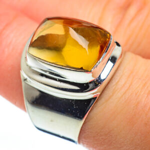 Citrine-925-Sterling-Silver-Ring-Size-8-Ana-Co-Jewelry-R46734F