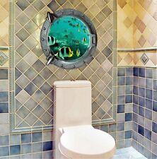 US Removable Ocean Sea Fish 3D Mural Wall Sticker Kids Room Bathroom DIY Decor