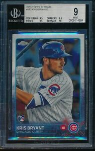 2015-Topps-Chrome-Kris-Bryant-Rookie-RC-BGS-9-Mint-Card-112-Chicago-Cubs
