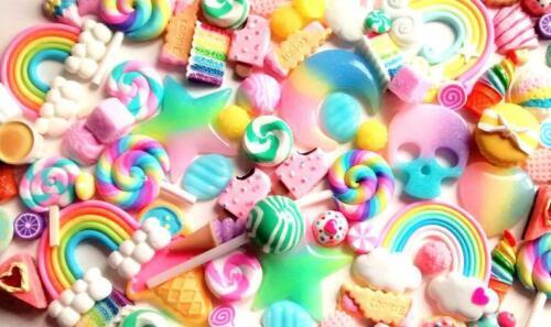 10pc//20pc//50pc falso dulces y KAWAII Cabujón Packs Decoden Craft Supplies