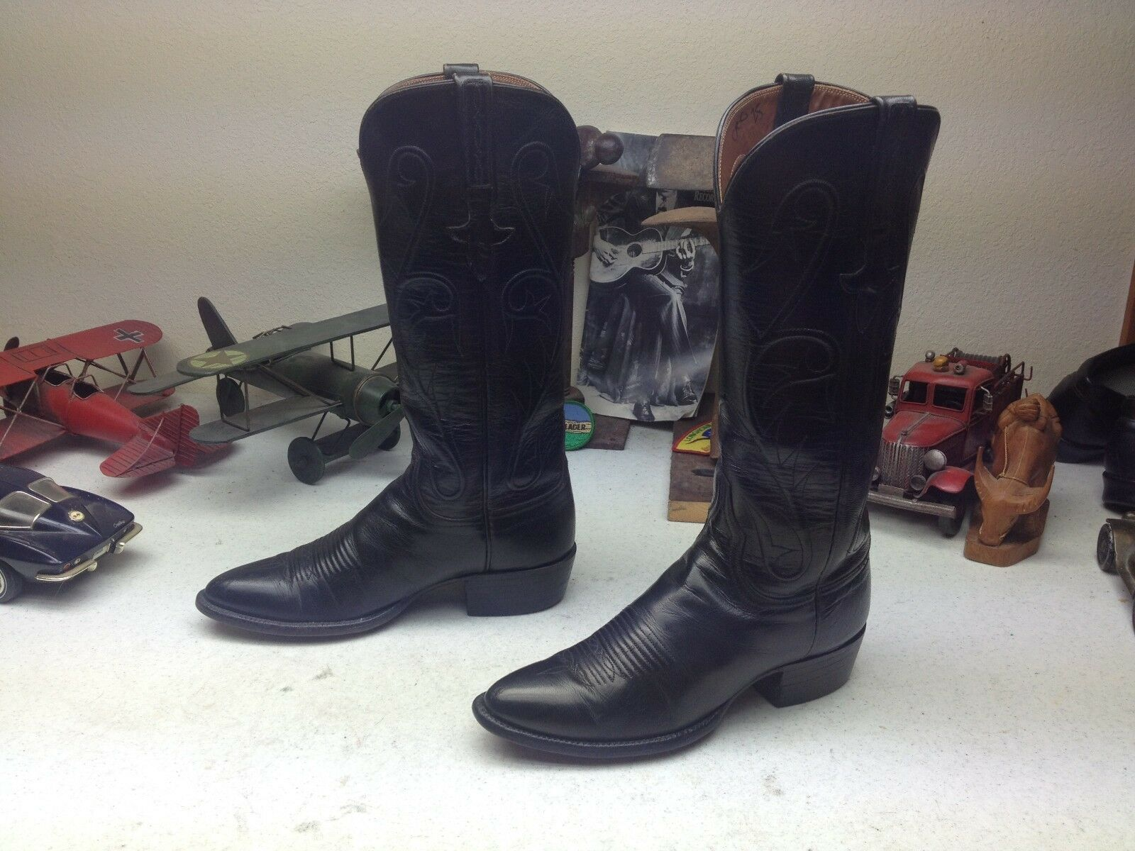 CLASSIC schwarz USA HAND HAND HAND MADE LUCCHES WESTERN COWBOY RODEO DANCE Stiefel Stiefel 6 B 75ba1d