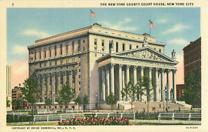 Postcard-The-New-Yourk-County-Court-House-New-York-NY