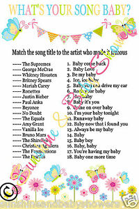image is loading what 039 s your song baby shower game