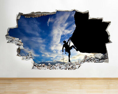 Wall Stickers Rugby Players Sport Bedroom Smashed Decal 3D Art Vinyl Room C669