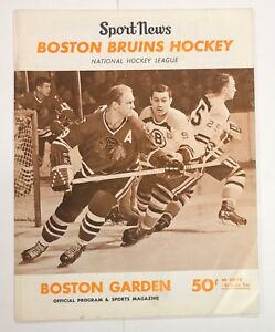 new product 21b57 d0d00 Details about 1966/67 BOSTON BRUINS VS NY RANGERS PROGRAM BOBBY HULL COVER  BOBBY ORR ROOKIE