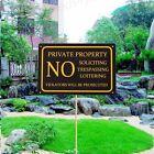 1pc 30X20cm Private Property No Trespassing Door Signs Retro Aluminium Plaques