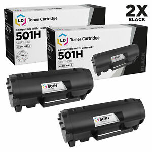 LD-For-Lexmark-50F1H00-2pk-HY-MS310-MS312-MS315-MS410-MS415-MS510-MS610