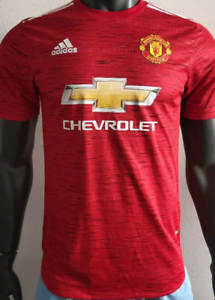 2019 20 Man Utd Home Red Soccer Jersey Player Version Ebay
