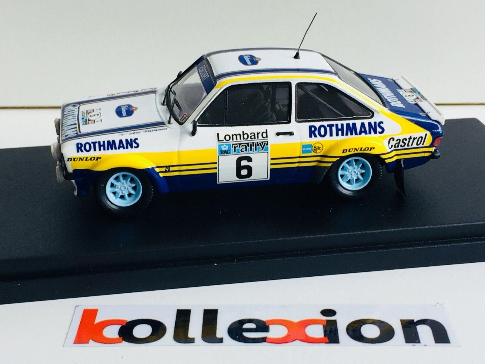 TROFEU TF1012 FORD Escort RS 1800 MkII rougehmans n°6 RAC 1979 1.43