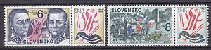 SLOVAKIA-1994-MNH-SC-189-90-Slovak-Uprising-with-right-labels