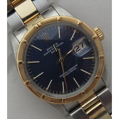 Rolex Oyster Perpetual Date mens wristwatch steel & gold 35 mm. ref 1501