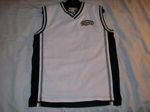 8bd54d712be SPURS San Antonio NBA Sports Club White Black Jersey Boys XL size 18 ...