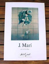 Original J. Mari Art Exhibition Poster Sala Gaudi Barcelona Spain Gallery Poster