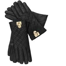 Michael Kors Quilted Leather Hamilton Lock Gloves Touch Tech Tips NWT! $98 L