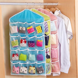 16-Pockets-Organiser-Hanging-Wall-Door-Storage-Bag-Tidy-Rack-Space-Saver-Pouch