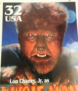 1997-WOLFMAN-Universal-Monsters-collectable-USPS-Mousepad-Sealed-MIP-Christmas