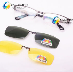 f5d0e03212 Image is loading Clip-On-Polarized-Night-Driving-Sunglasses-Magnetic- Eyeglasses-