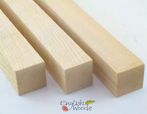 "English Ash woodturning spindle blanks. 50mm (2"") square. Wood Spoon carving."