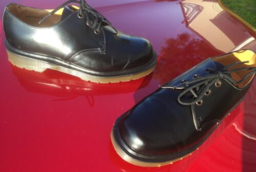 Leather Dr Inglaterra Shoes fabricados 6 Eu Martens en Black 39 Vintage Uk ZtxdqBaWZw