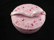 PLAYBOY bunny Logo S rose vanité circulaire Boîte à bijoux / cas avec miroir