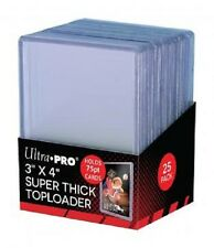 100 Ultra Pro 75pt 3x4 Toploaders Toploader Super Thick top loaders Jersey Cards