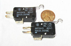 2-x-Matsushita-SPDT-Microswitch-Limit-Switch-15A-125V-AC-250V-Lever-AH715479-J
