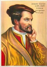 Jacques Cartier «Iacques Quartier» Explorateur Explorer FRANCE IMAGE CARD 1951