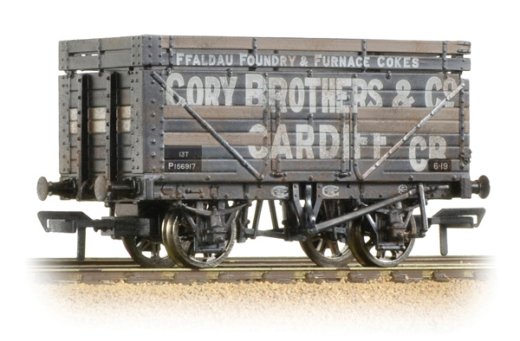 Bachmann 37-185A 7 Plank Wagon with Coke Rails (BR) Cory Brothers & Co Weathered