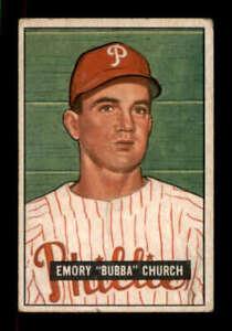 1951-Bowman-149-Bubba-Church-VG-VGEX-RC-Rookie-Phillies-401093