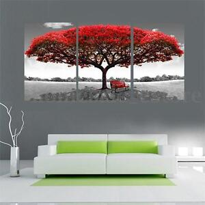Nice Image Is Loading Large Red Tree Canvas Modern Home Wall Decor
