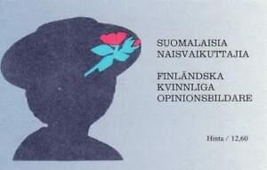 Finland-booklet-postfris-1992-MNH-PB-30-1181-1186-Beroemde-Vrouwen