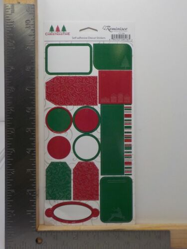 REMINISCE CHRISTMAS TIME TAGS SELF ADHESIVE DIE CUT STICKERS NEW A10269