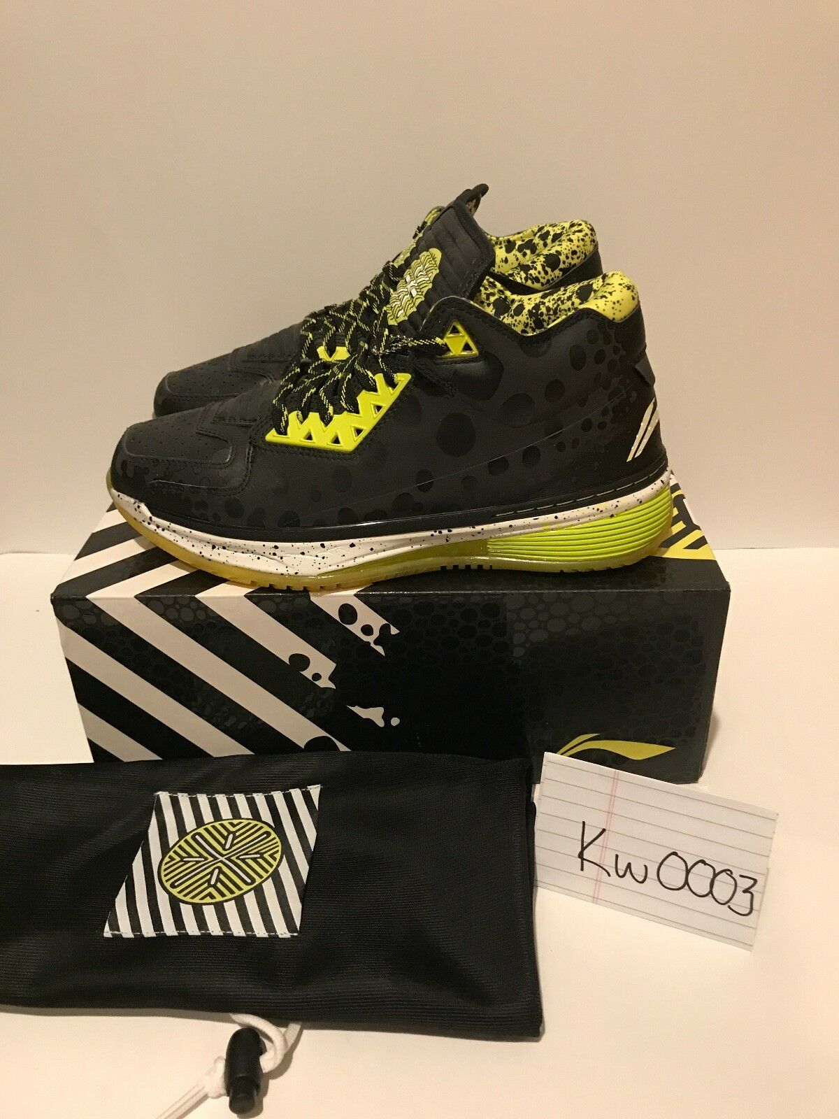 Mens DS Deadstock LI-NING Way Of Wade 2 NOLA All-Star Black Yellow 3m US size 10