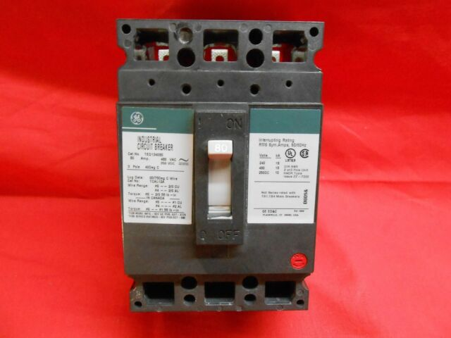 General Electric TED134080 3 Pole 80A Circuit Breaker New In Box