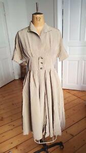 dd1173379422f8 Das Bild wird geladen Original-50er-Jahre-Vintage-Kleid-grau-Rockabilly- Kleid-