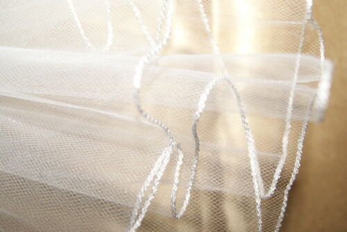 "Soft Wedding Bridal Veil Cathedral 108/"" Width 108/"" Length Pencil Edge USA Made"