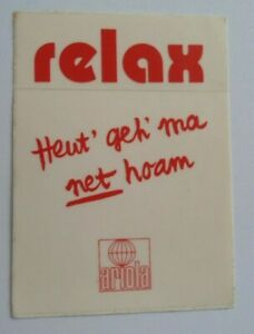 Art Music Relax Heut Go Ma Net Hoam Single 1986 Ariola Band Bavaria