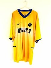 Inter Milan 3rd Shirt 2002. XL. Nike. Yellow Adults Short Sleeves Top Only Kit.
