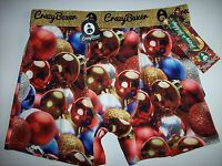 Crazy Boxer Underwear Mens Boxer Briefs 1 Pr Ornaments Graphic Select Sz