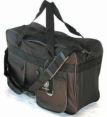 "19""  30LB. CAP.  SQUARE BLACK DUFFLE BAG / CARGO BAG/ CARRY ON / SUITCASE / TOTE"