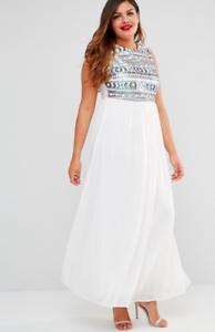 ae4d3f2f Club L Ladies plus maxi dress with sequin top in white UK 20/EU 48 ...