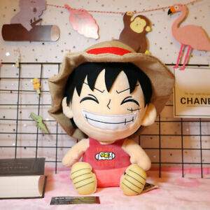 Details About 45cm Anime One Piece Monkey D Luffy Plush Toy Doll Stuffed Pillow Kids Gifts