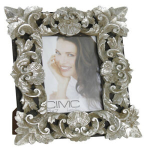 Details About Large Antique Silver Baroque Photo Frame Special Offer